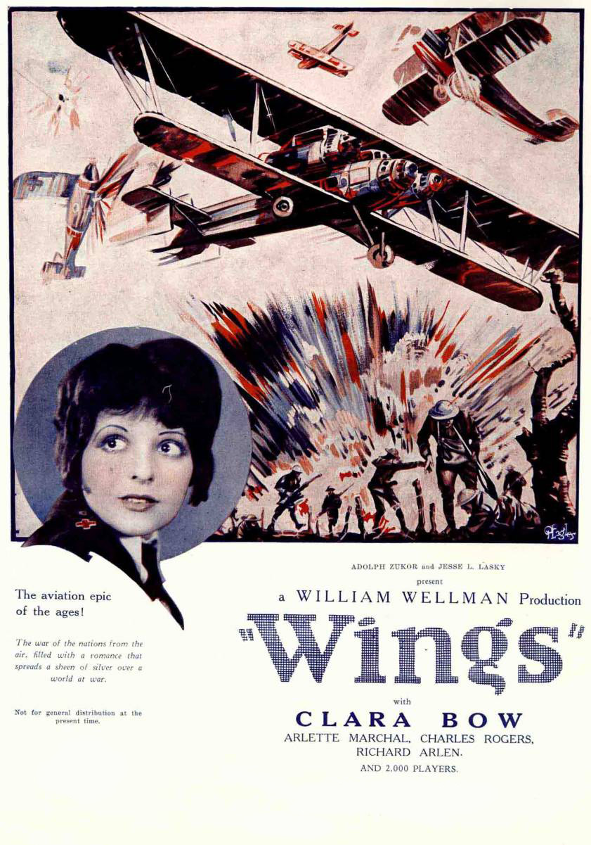 analysis of the 1927 film wings What can be learned from watching every single film to have won an oscar for best picture witney seibold is determined to find out, and he's going to be writing about each winner right here, one at a time let's start at the very beginning with the 1927 film, william wellman's wings first a bit of trivia: for.