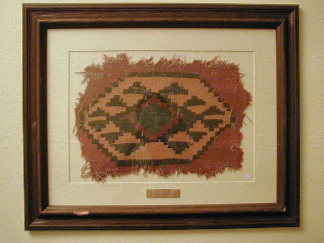 The Ahwahnee Hotel Fragment of one of the hotel's original Persian rugs. These framed historic rug fragments are used as decorations