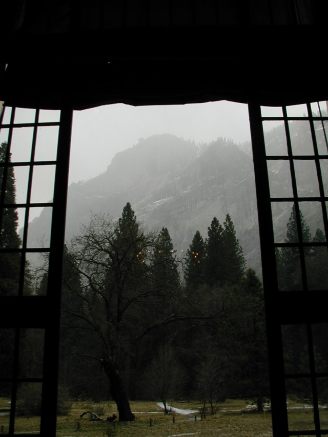 View from the solarium in  The Ahwahnee Hotel