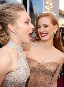 Amanda Seyfried & Jessica Chastain 85th Annual Academy Awards