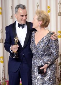 Meryl Streep and Daniel Day-Lewis - 85th Annual Academy Awards, press room