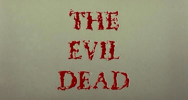 The Evil Dead title