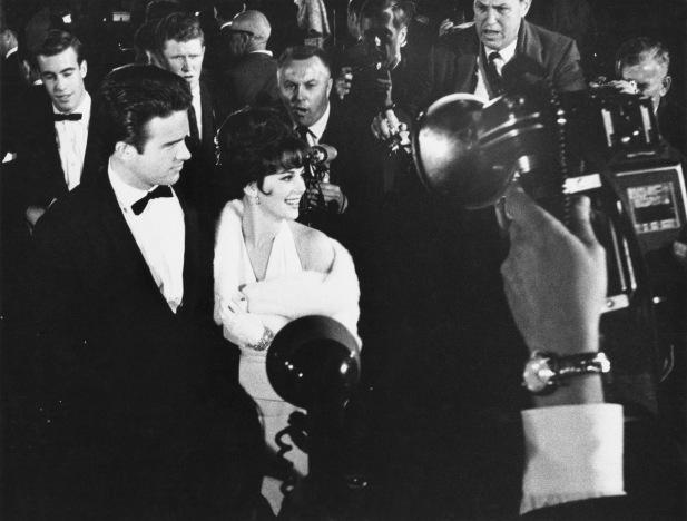 Warren Beatty with Natalie Wood at the 1962 Oscar Awards at Sant